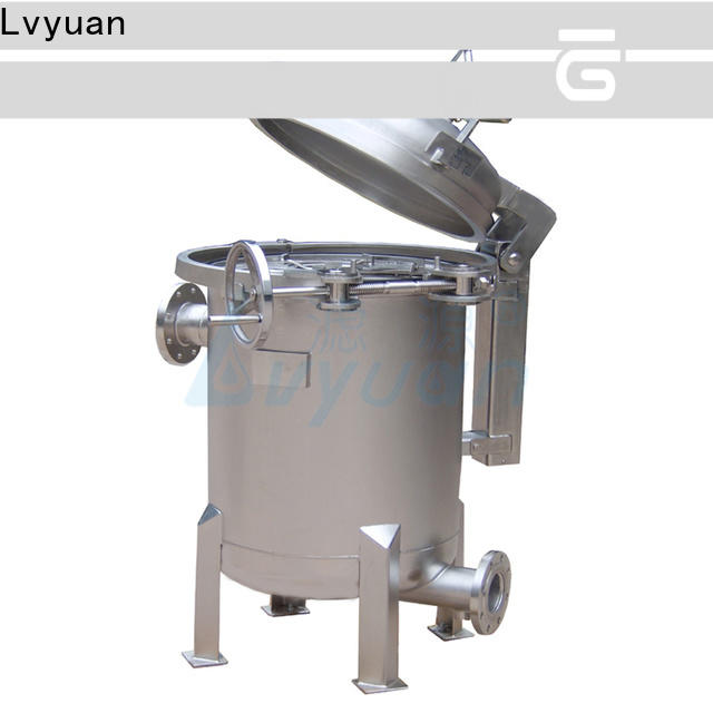 Lvyuan stainless steel bag filter housing with fin end cap for sea water treatment