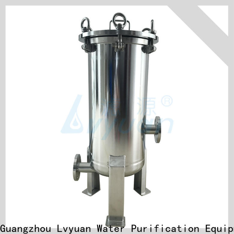 Lvyuan porous stainless steel cartridge filter housing with fin end cap for sea water treatment