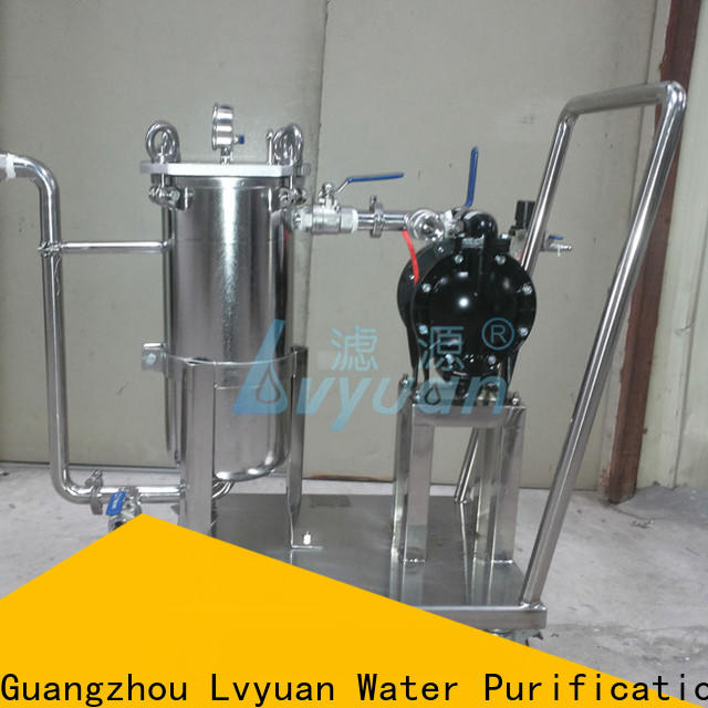 Lvyuan titanium stainless steel filter housing manufacturers with fin end cap for sea water desalination