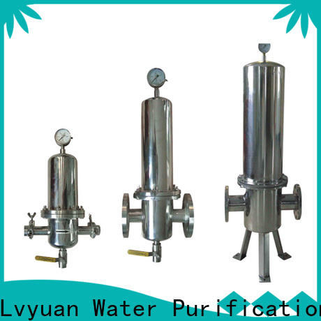 Lvyuan high end ss filter housing with fin end cap for sea water treatment