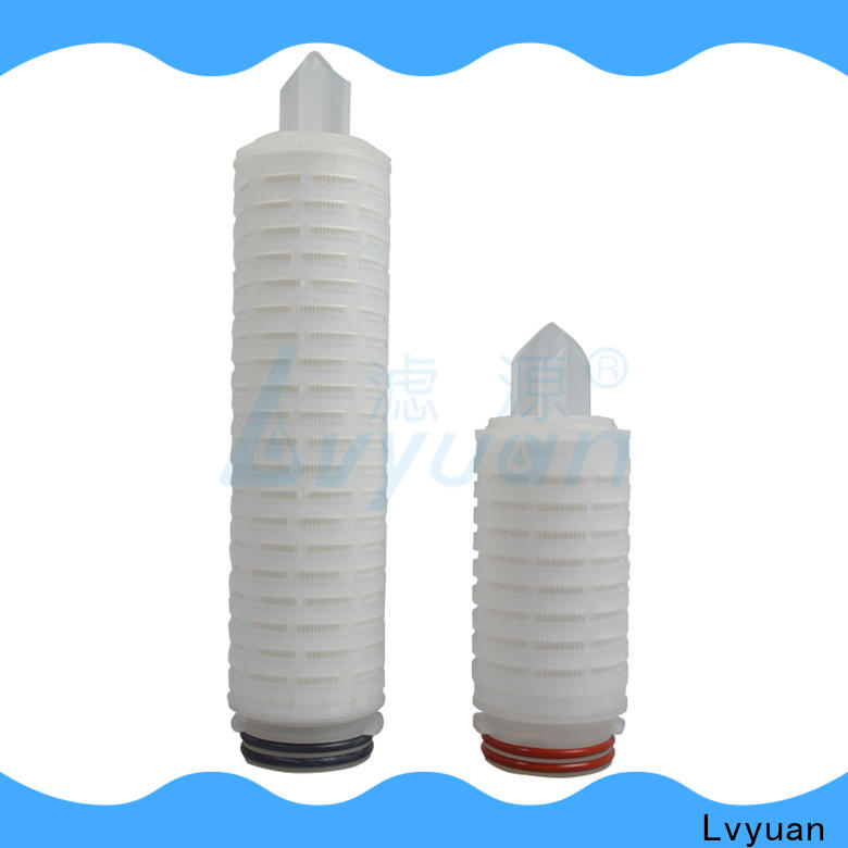 Lvyuan pleated filter cartridge suppliers replacement for sea water desalination
