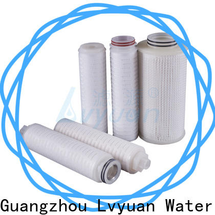 pvdf pleated water filters with stainless steel for food and beverage