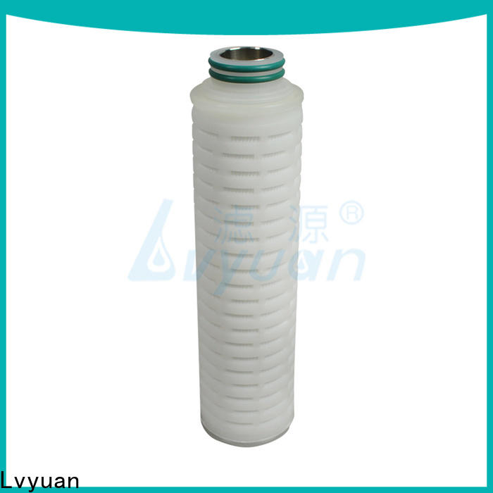 Lvyuan membrane pleated water filter cartridge with stainless steel for sea water desalination