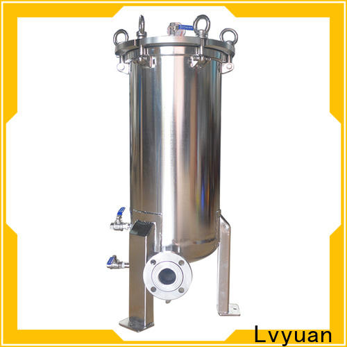 titanium stainless steel cartridge filter housing with fin end cap for oil fuel