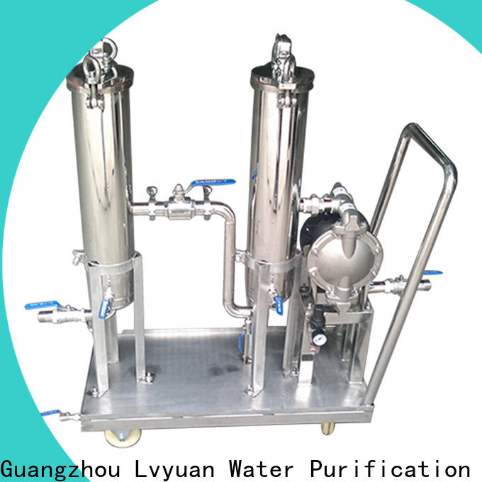 professional stainless steel bag filter housing with core for food and beverage