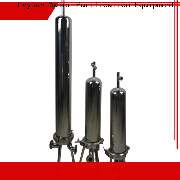Lvyuan best stainless water filter housing with core for industry