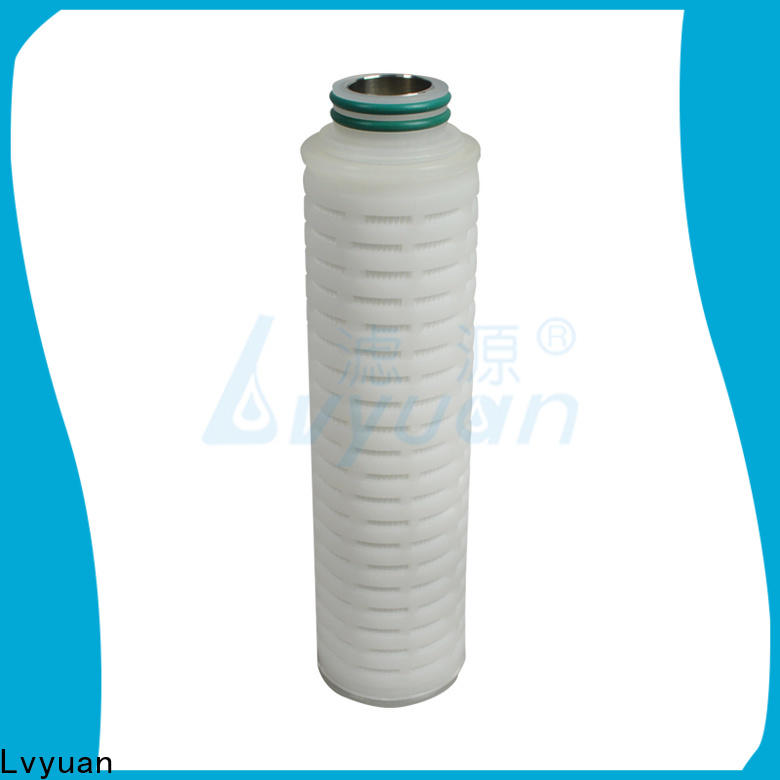 Lvyuan pvdf pleated filter cartridge suppliers with stainless steel for diagnostics