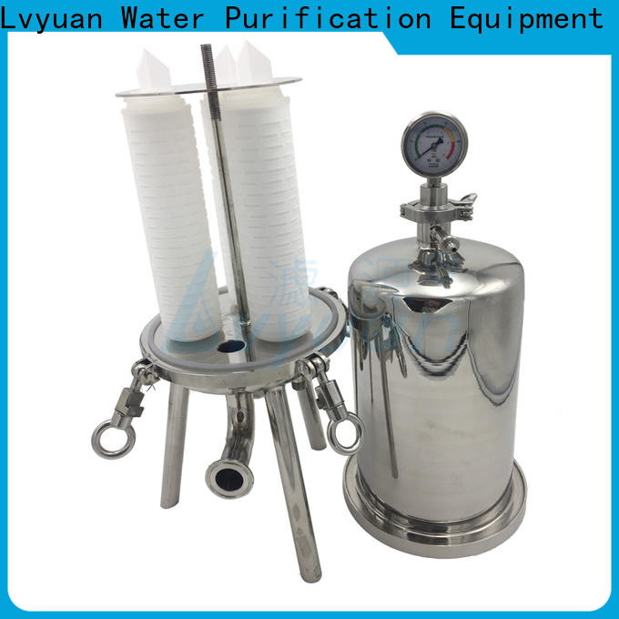 porous stainless steel filter housing rod for sea water treatment