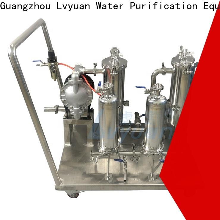 Lvyuan porous stainless water filter housing manufacturer for sea water treatment