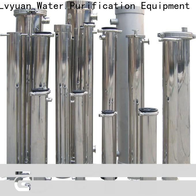 Lvyuan ss filter housing manufacturers with fin end cap for food and beverage