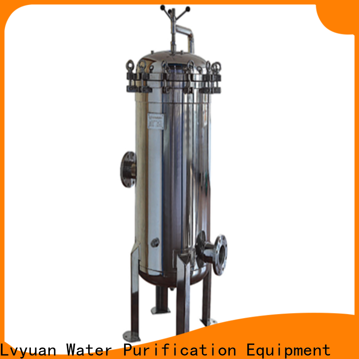 Lvyuan ss cartridge filter housing with fin end cap for sea water treatment