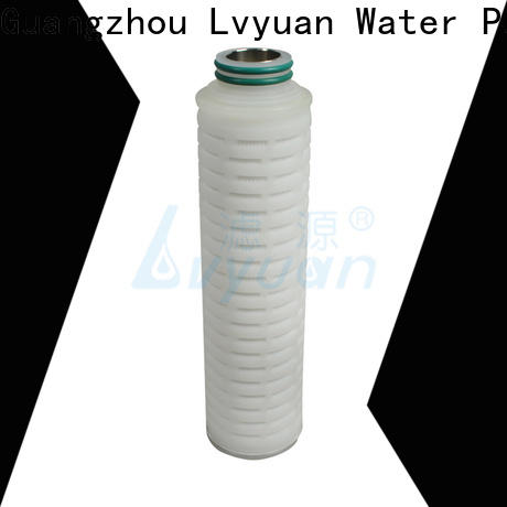 pvdf pleated filter with stainless steel for organic solvents