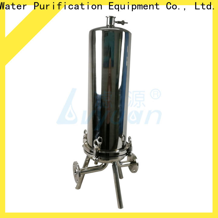 Lvyuan high end stainless water filter housing with fin end cap for industry