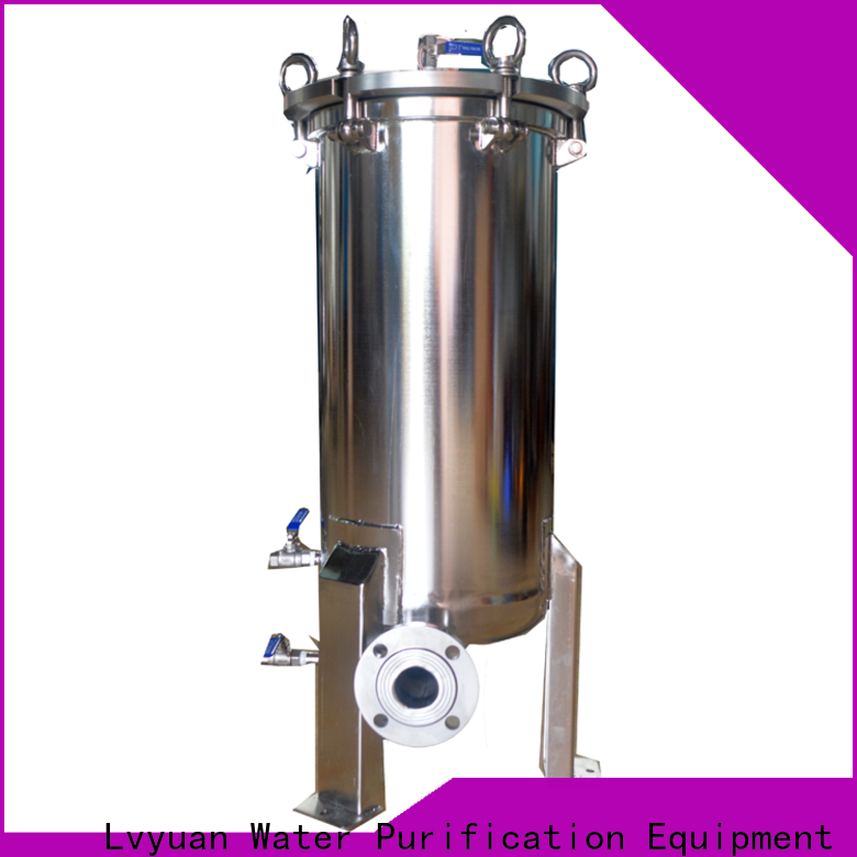 Lvyuan best ss cartridge filter housing with core for food and beverage
