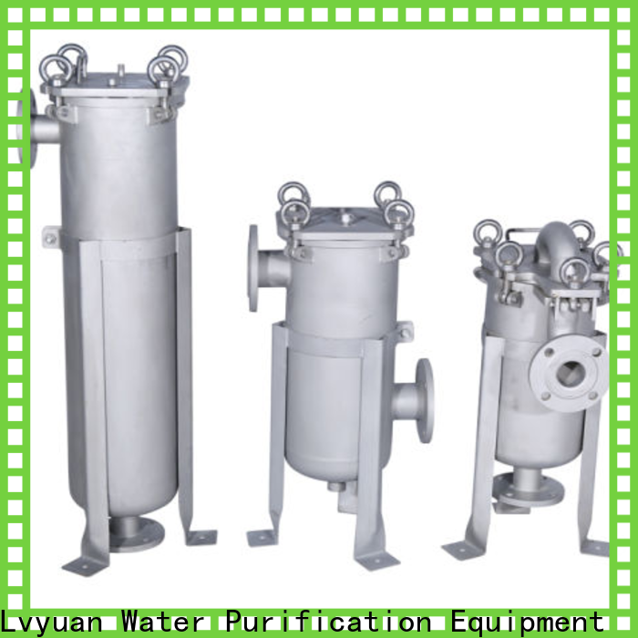 Lvyuan porous ss filter housing manufacturers with fin end cap for sea water treatment