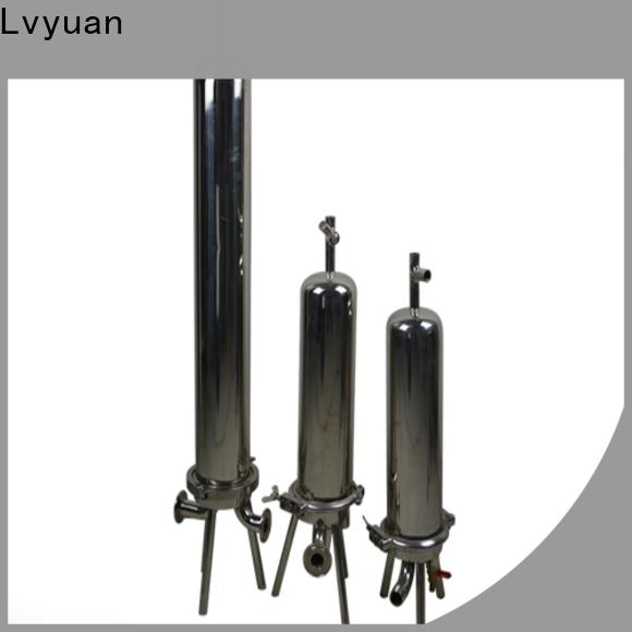 Lvyuan titanium stainless steel water filter housing manufacturer for oil fuel