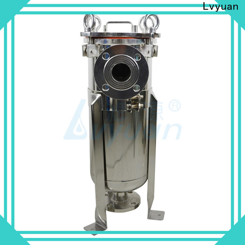 professional stainless steel bag filter housing with core for sea water desalination