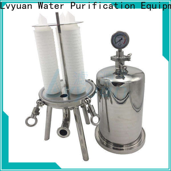 Lvyuan ss cartridge filter housing with fin end cap for oil fuel