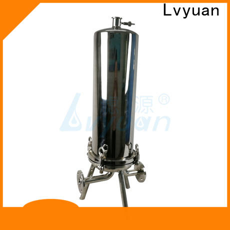 Lvyuan titanium stainless steel bag filter housing with core for sea water treatment