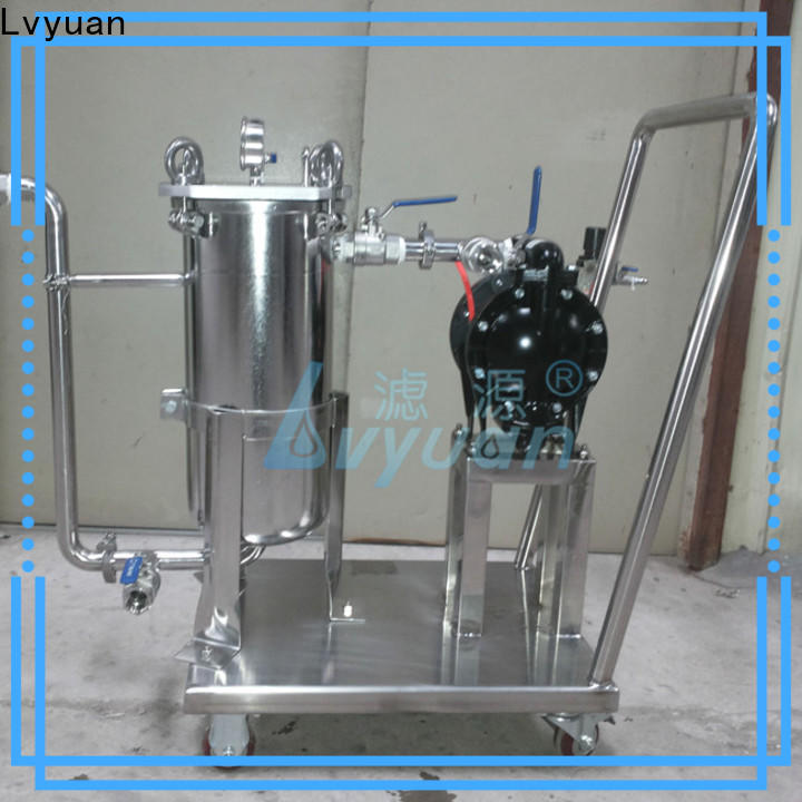 best stainless steel water filter housing with fin end cap for food and beverage