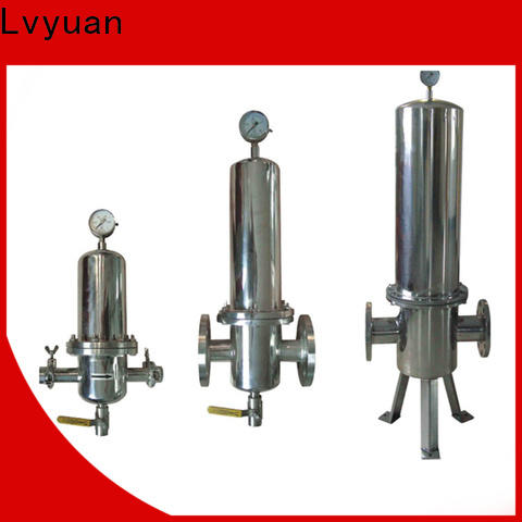 Lvyuan efficient stainless filter housing with fin end cap for industry