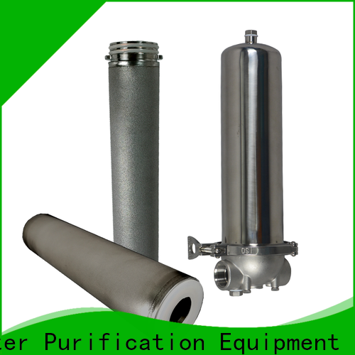 Lvyuan efficient ss cartridge filter housing with fin end cap for sea water desalination