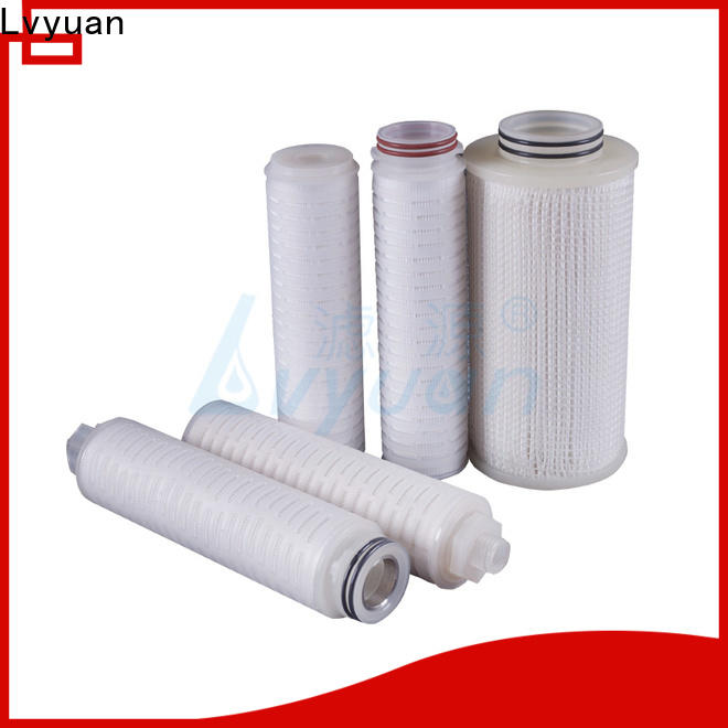 Lvyuan pvdf pleated filter manufacturers with stainless steel for food and beverage