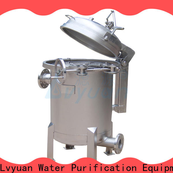 Lvyuan professional ss filter housing manufacturers with fin end cap for sea water desalination