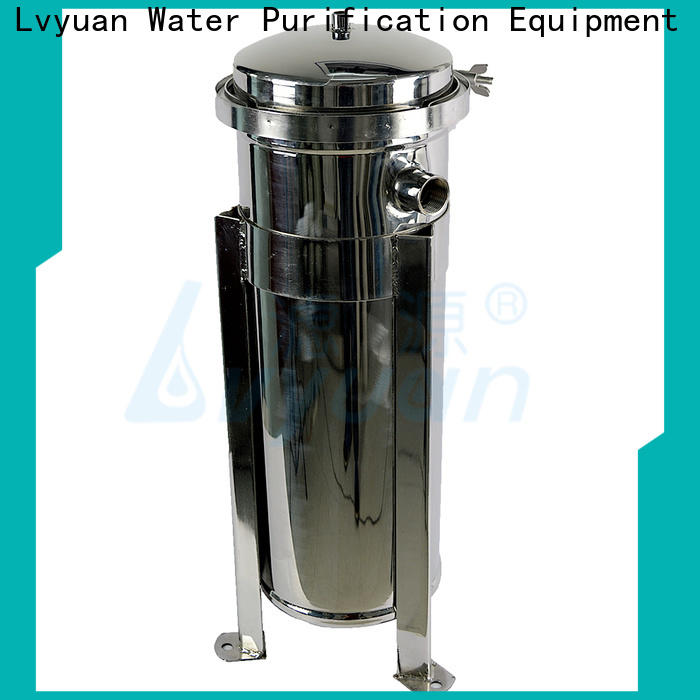 Lvyuan professional stainless steel bag filter housing with fin end cap for sea water desalination