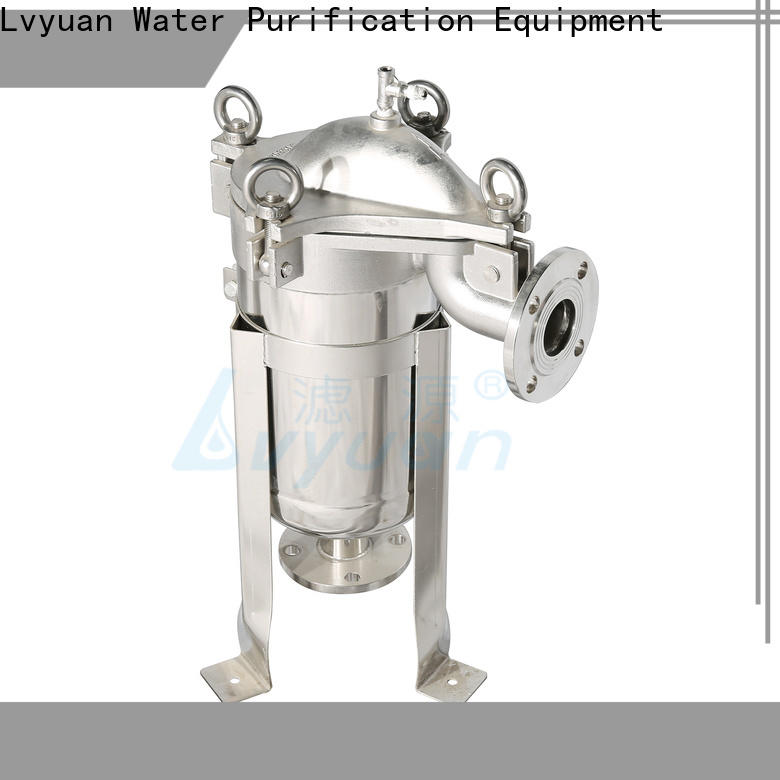 Lvyuan high end stainless steel cartridge filter housing with core for sea water desalination