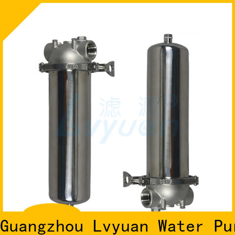 Lvyuan porous stainless steel bag filter housing with core for sea water desalination