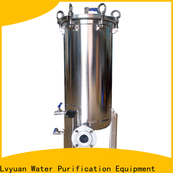 Lvyuan professional stainless steel bag filter housing with core for sea water treatment