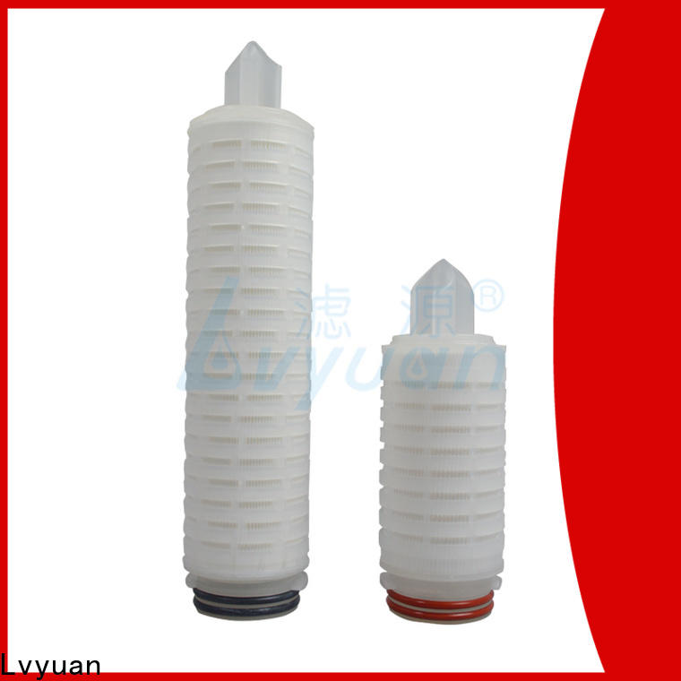 Lvyuan water pleated water filters with stainless steel for food and beverage
