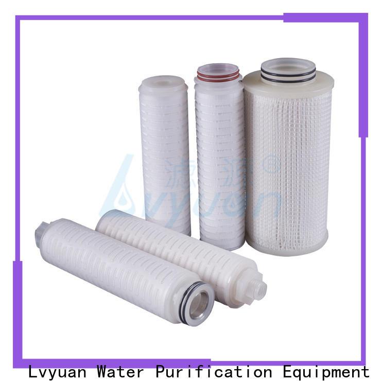 Lvyuan pvdf pleated water filter cartridge manufacturer for sea water desalination