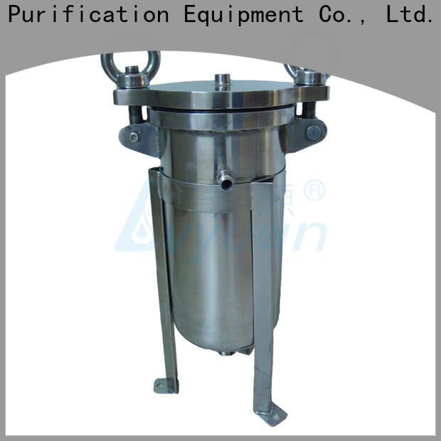 high end ss filter housing manufacturers with fin end cap for food and beverage