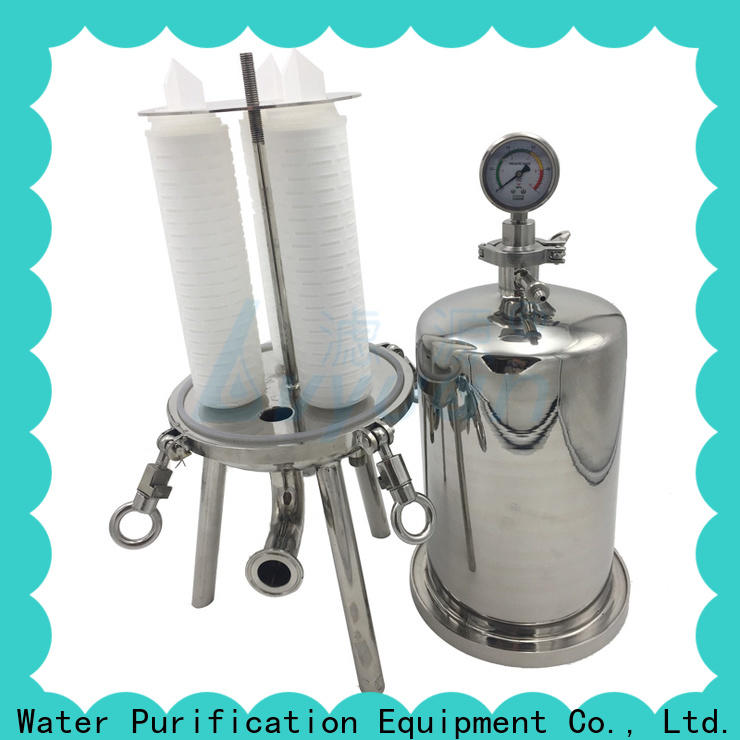 efficient stainless water filter housing with fin end cap for oil fuel