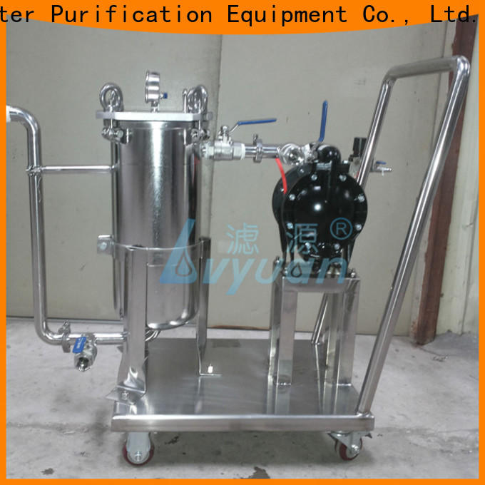 Lvyuan ss bag filter housing rod for sea water desalination