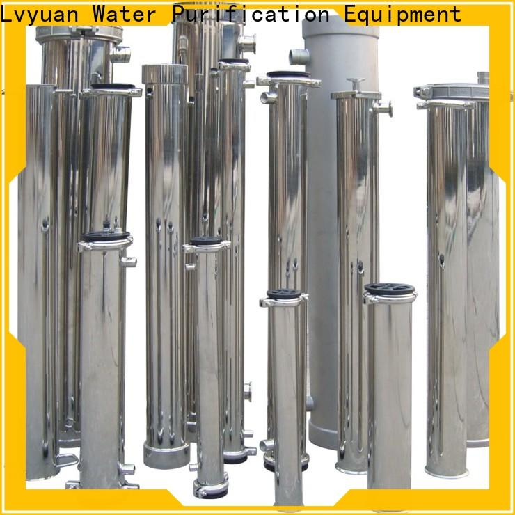 efficient stainless steel water filter housing with fin end cap for sea water desalination