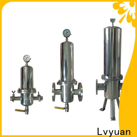 Lvyuan titanium stainless steel water filter housing manufacturer for industry