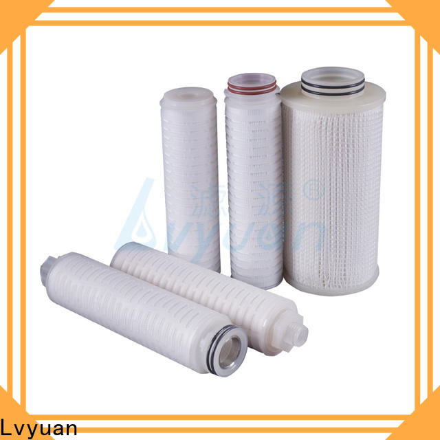 Lvyuan pleated water filter cartridge manufacturer for industry
