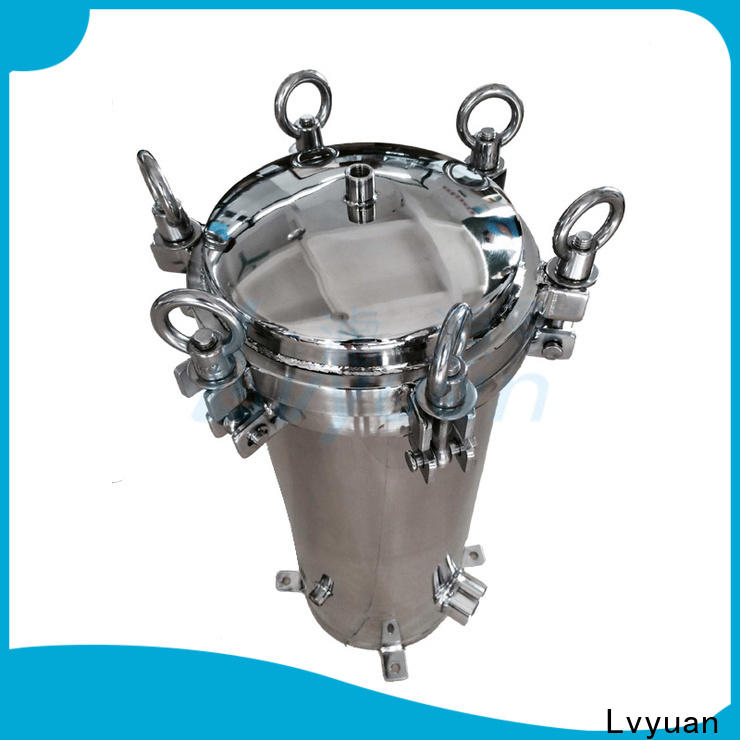 Lvyuan efficient stainless steel filter housing with core for food and beverage