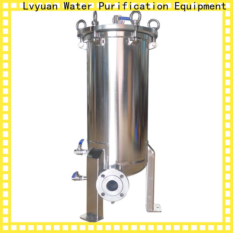 professional stainless steel bag filter housing housing for food and beverage