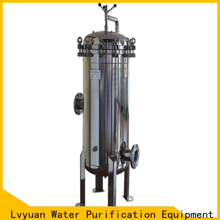 Lvyuan professional stainless water filter housing with fin end cap for food and beverage