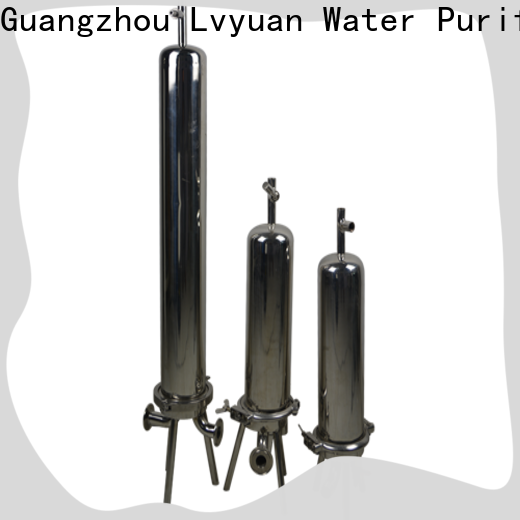Lvyuan stainless steel bag filter housing with core for sea water treatment