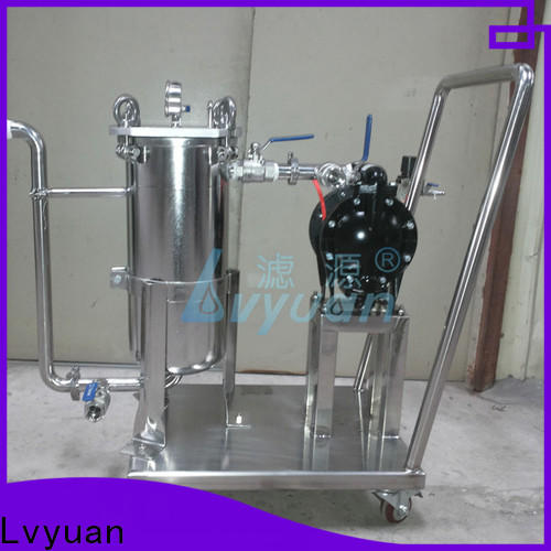 porous stainless steel bag filter housing with core for oil fuel