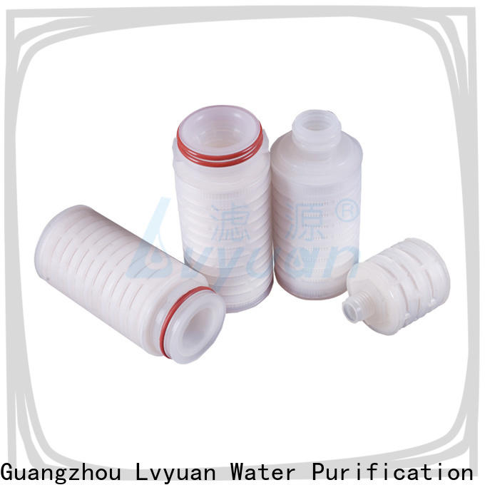 Lvyuan ptfe pleated water filter cartridge supplier for industry