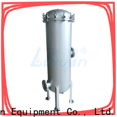 Lvyuan high end stainless steel water filter housing with fin end cap for sea water treatment