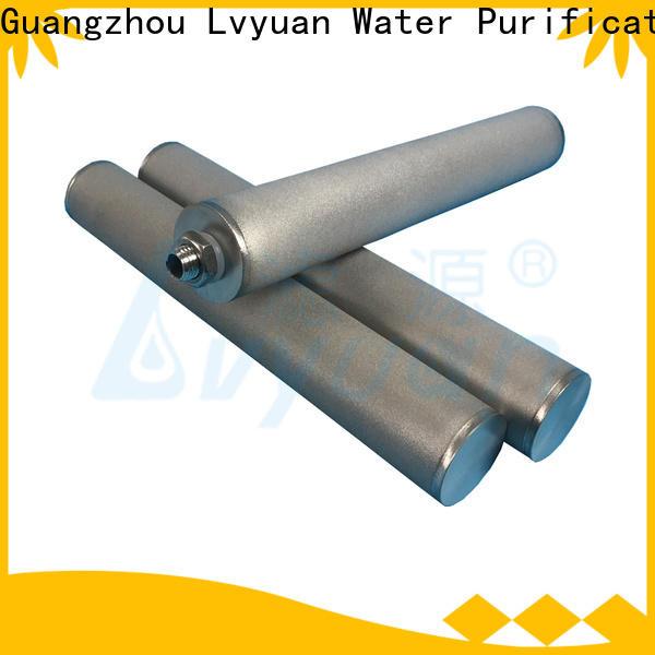 Lvyuan porous sintered plastic filter manufacturer for sea water desalination