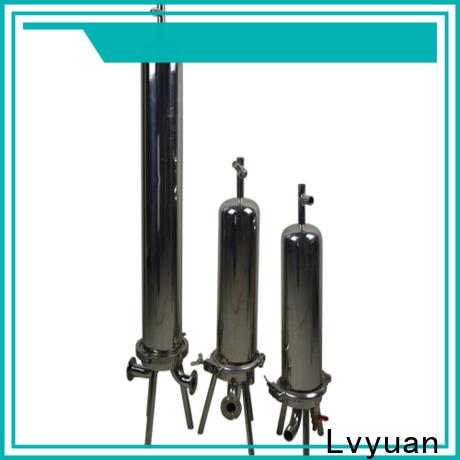 Lvyuan porous ss bag filter housing rod for sea water treatment