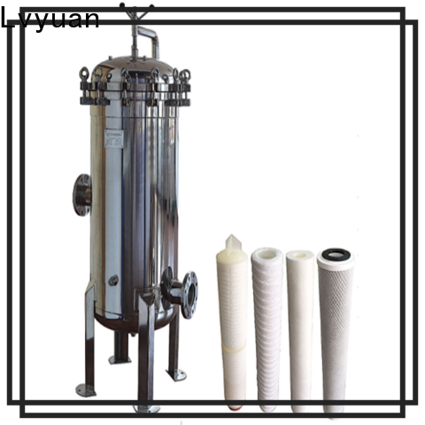 efficient stainless steel cartridge filter housing manufacturer for food and beverage